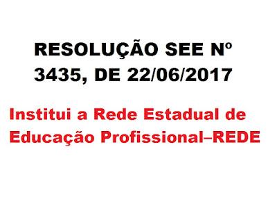 RESOLUÇÃO SEE Nº 3 .435, DE 22 DE JUNHO DE 2017
