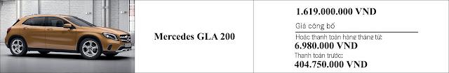 Giá xe Mercedes GLA 200 2019 tại Mercedes Trường Chinh