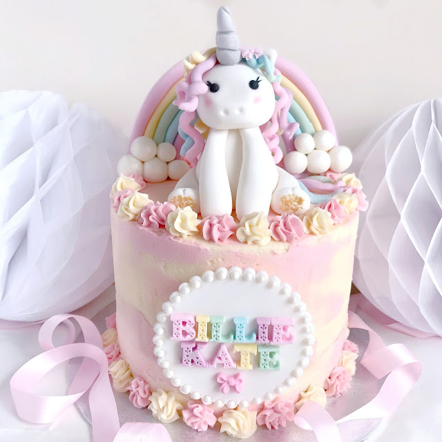 Love, Catherine | Magical Rainbow Unicorn Birthday Cake
