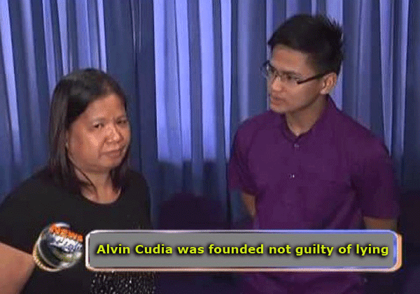 Alvin Cudia was founded not guilty of lying