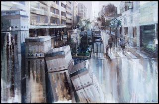 Pintura a l'oli d'Aida Mauri / Oil on canvas by Aida Mauri, Mollerussa