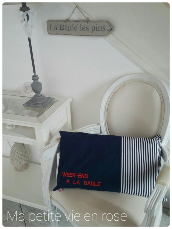 ma petite vie en rose coussins esprit bord de mer. Black Bedroom Furniture Sets. Home Design Ideas