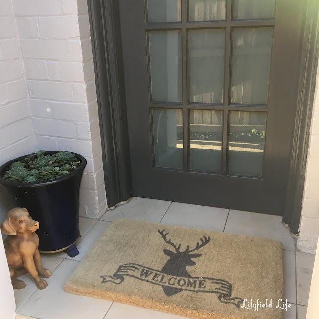 Dulux Basalt front door