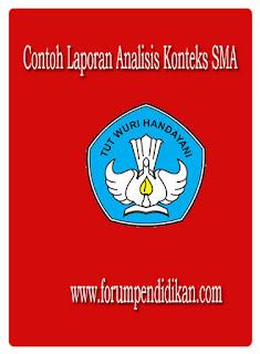 Contoh Laporan Analisis Konteks SMA
