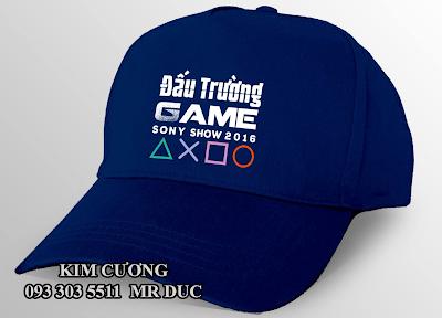 Nhận may nón lưỡi trai nón quà tặng cho đấu trường game sony show 2016