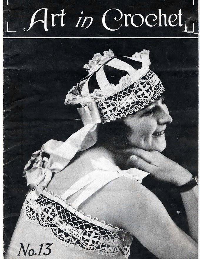 Art In Crochet N°13-1918  Arte Em Crochê  -Revista Antiga De Crochê