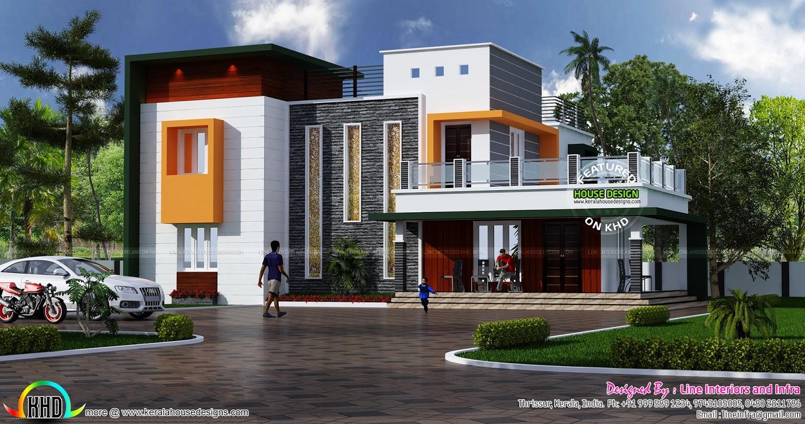 stylish contemporary home architecture kerala home design