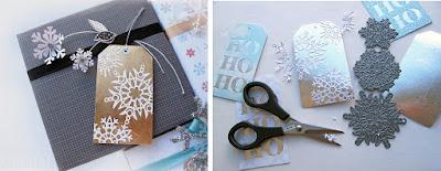 Easy gilded silver-leaf paper die cut resist  - mel stampz