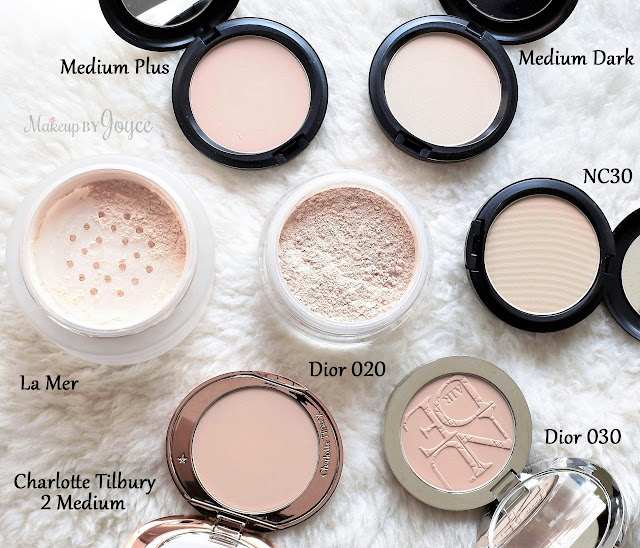 La Mer Dior MAC Luxury Loose Pressed Powder Collection Review Swatches