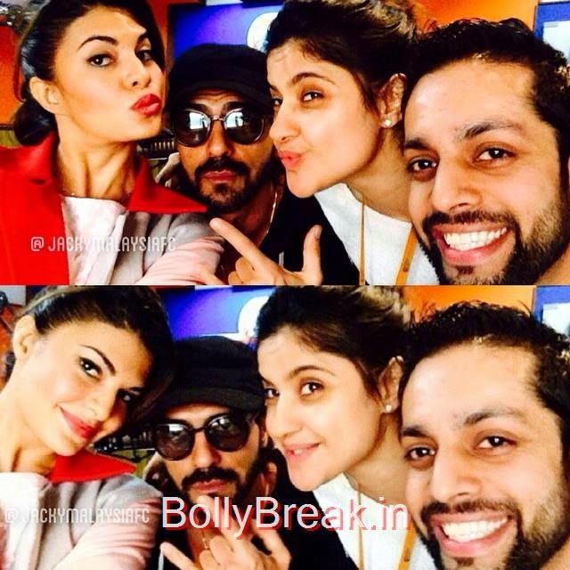 pic: jacqueline fernandez, arjun rampal and the team of radio city with their selfie madness for roy , promotions ! jacqueline ,fernandez jacqueline , arjun , arjun rampal , promotions , bollywood , actress ,, Jacquline Fernandez Roy Promotion Pics