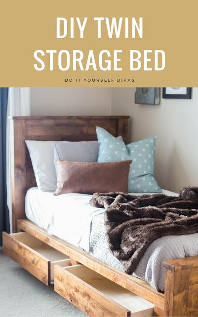 Do It Yourself Divas Diy Twin Storage Bedframe