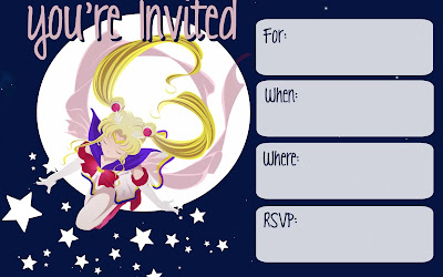 free Sailor Moon birthday printables