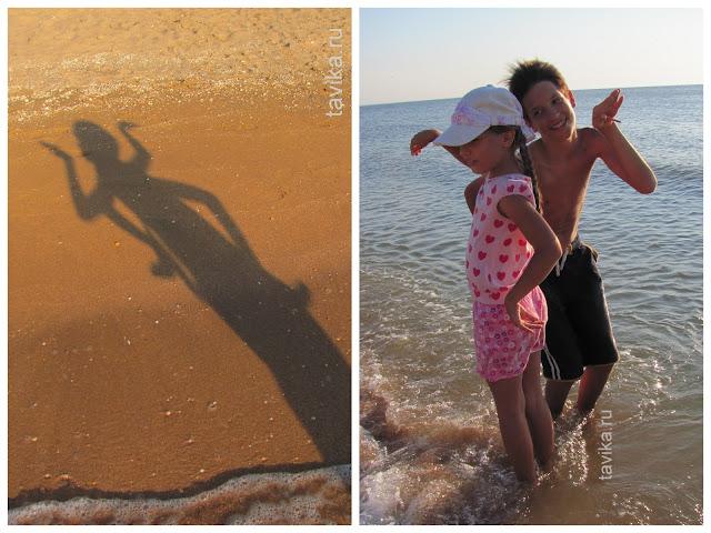 Тени на песке. Чем занять детей на пляже