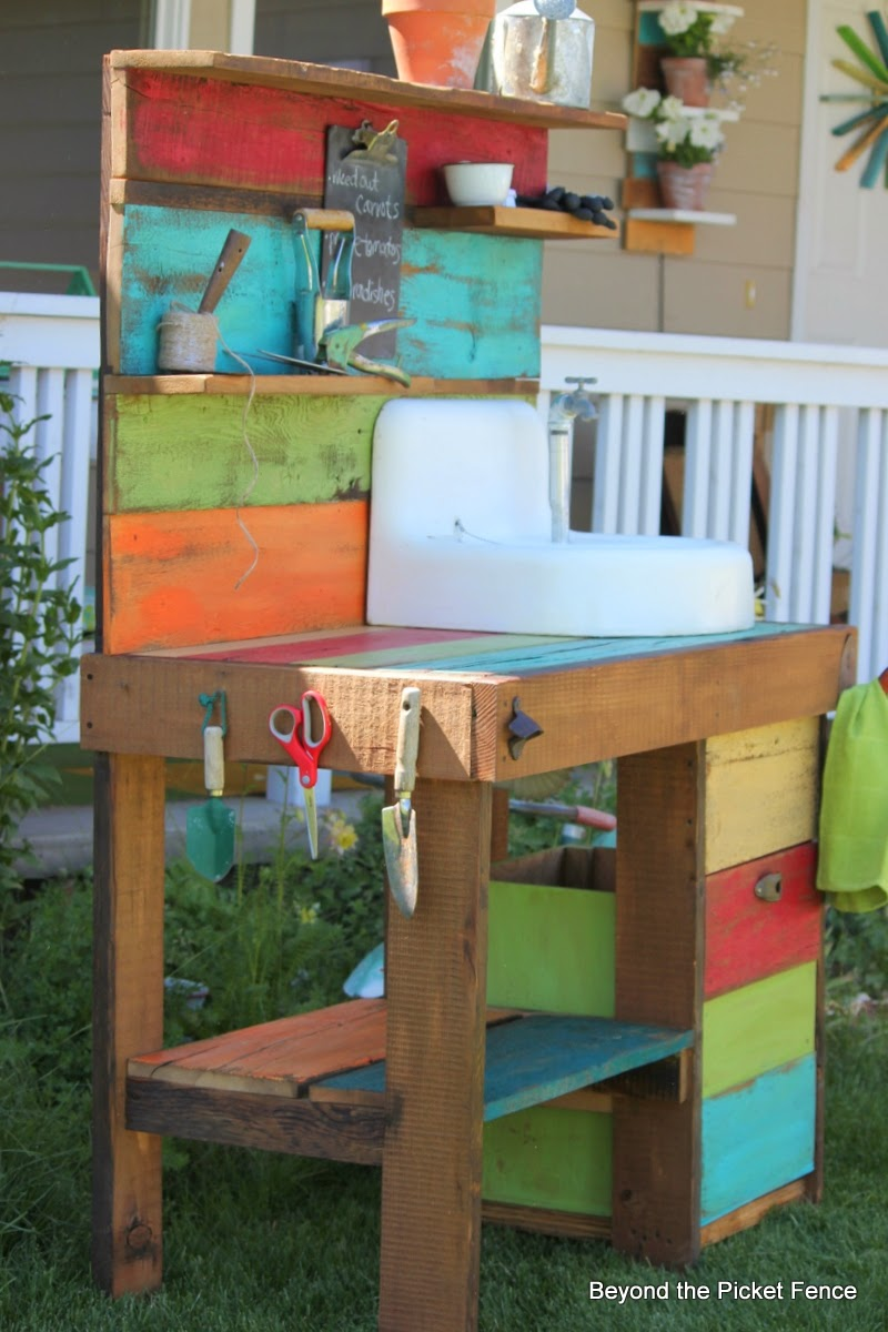 Beyond The Picket Fence Potting Bench Challenge