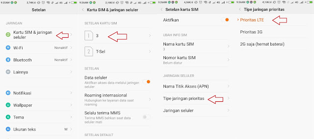 4 Langkah Cara Mengunci Jaringan 4G LTE