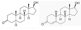 formula estrutura quimica dihidrotestosterona nortestosterona