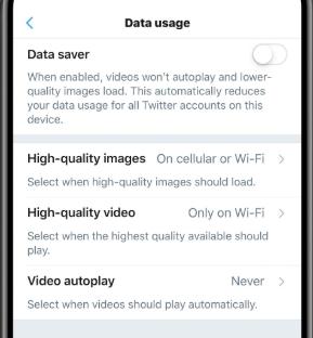 """تحديث تويتر يجلب ميزة """"توفير البيانات"""" الجديدة على iOS"""
