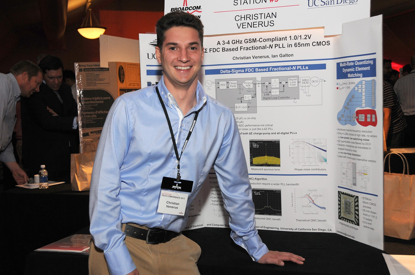 hight resolution of electrical engineering grad student christian venerus finalist in broadcom foundation university research competition