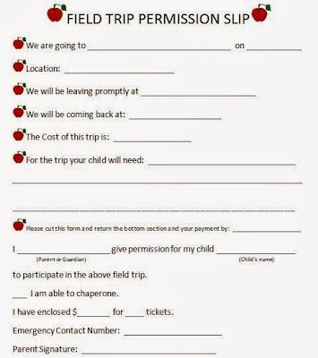 Kara\u0027s Happy Classroom Field Trip Form (Editable)
