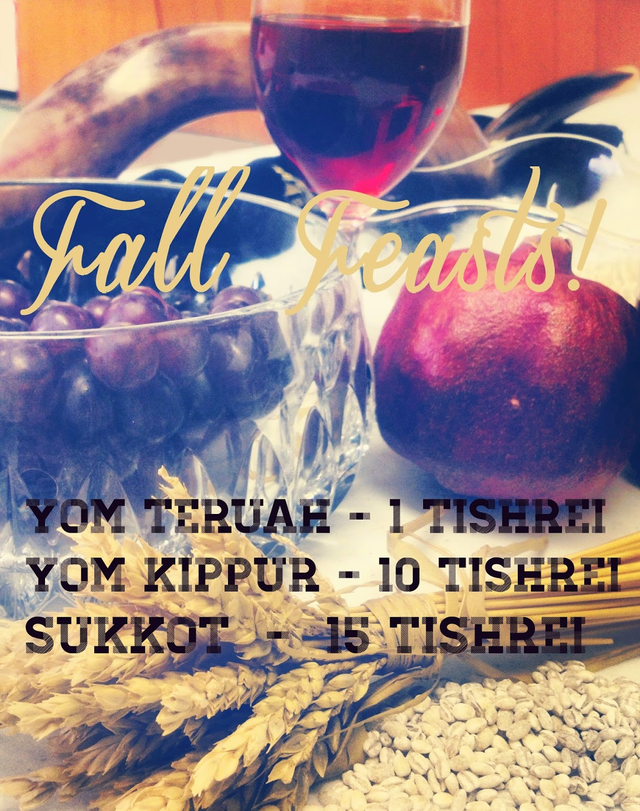 The Fall Feast Dates | Land of Honey Blog