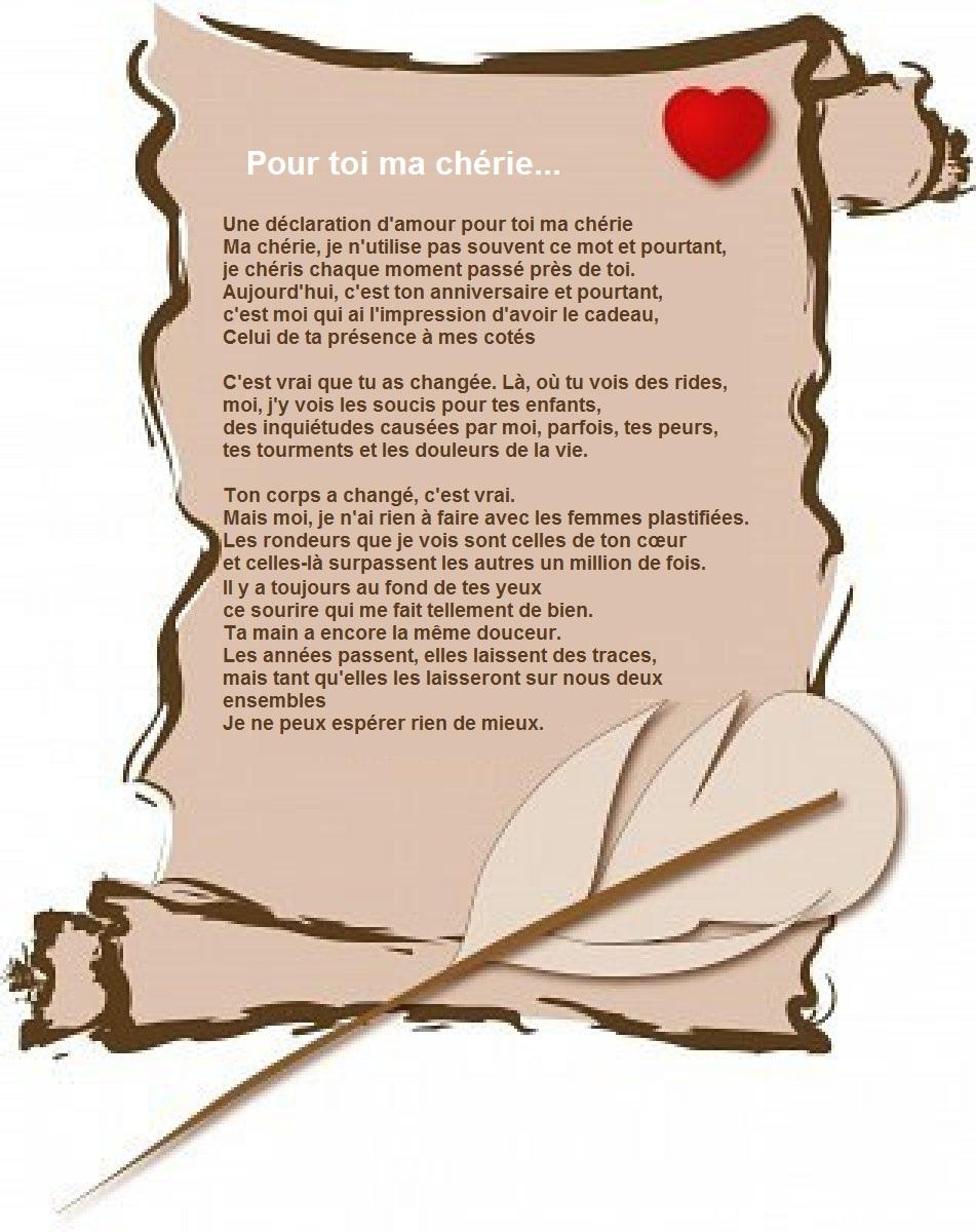 Lettre d'amour pour ma chérie - message et mots d'amour