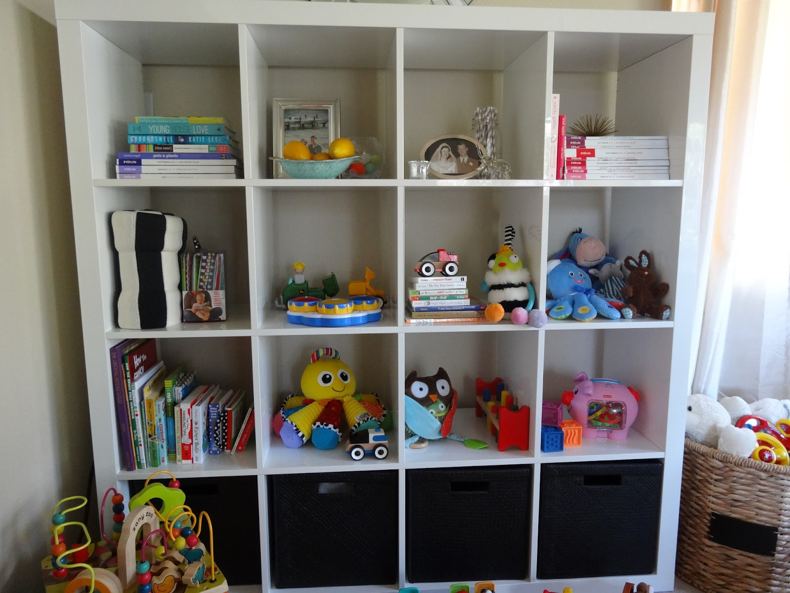 ikea expedit in the playroom  schue love