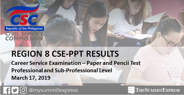 Region 8 Passers: March 2019 Civil Service Exam Results
