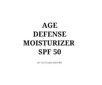 AGE DEFENSE MOISTURIZER SPF 50