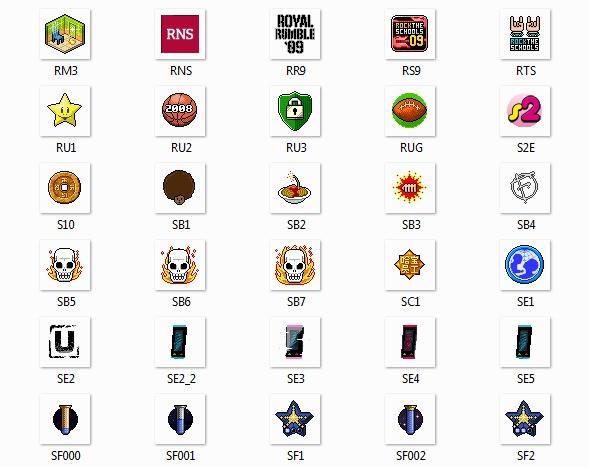 Placas Habbo con sus códigos badges codes