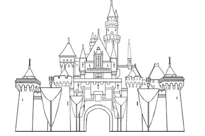 Gambar Mewarnai Istana Frozen