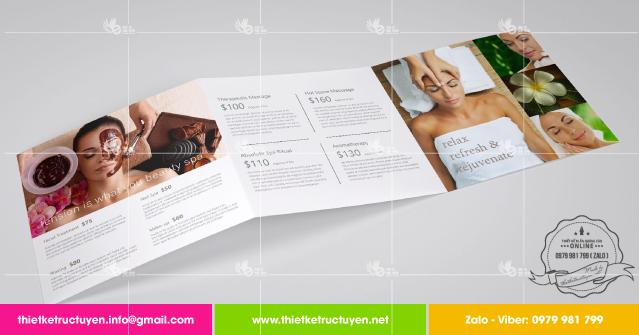 thiết kế brochure spa đẹp
