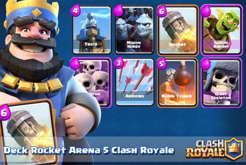 Strategi Terbaik Deck Rocket Arena 5 Clash Royale