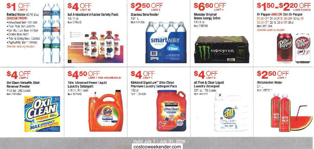 Current Costco Coupon Book July 2016 Costco Weekender