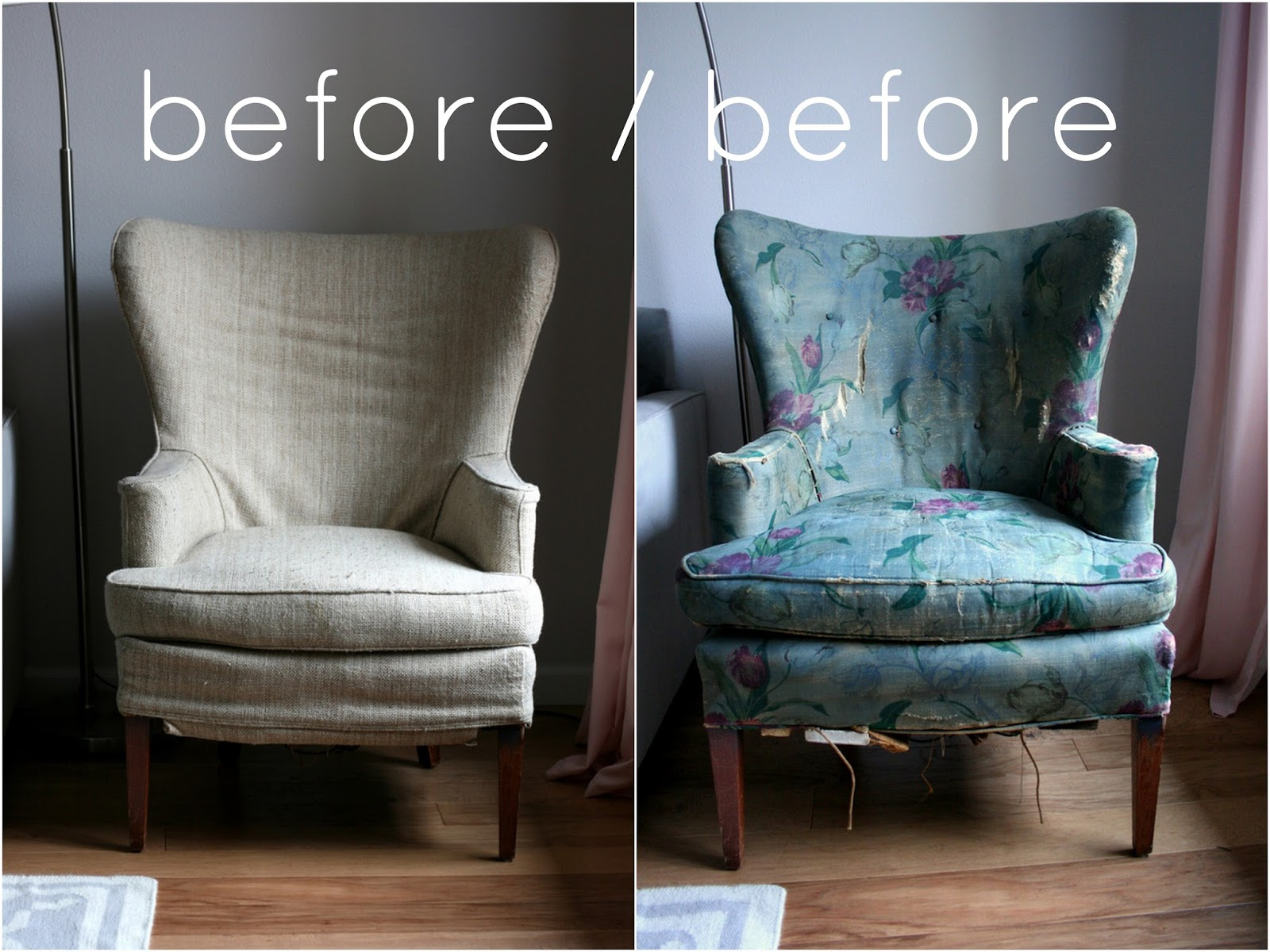 Phew Vintage wingback chair slipcover finally complete