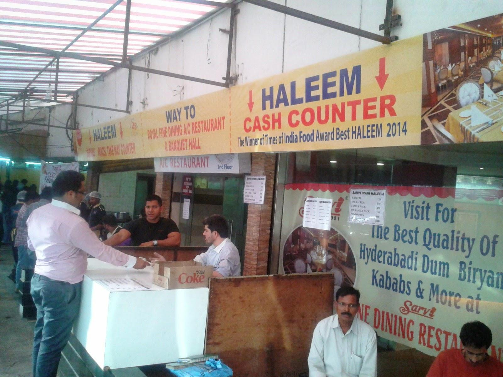 Foodaholix Sarvi haleem special counter