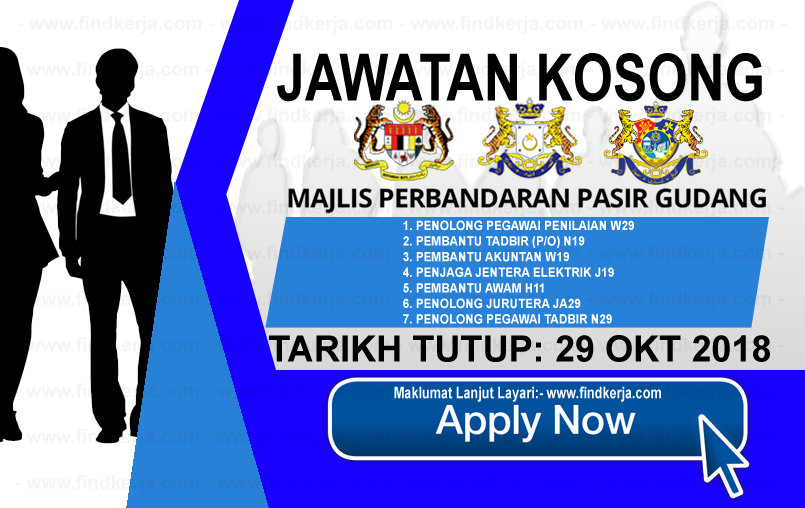 Jawatan Kerja Kosong MPPG - Majlis Perbandaran Pasir Gudang logo www.ohjob.info www.findkerja.com oktober 2018