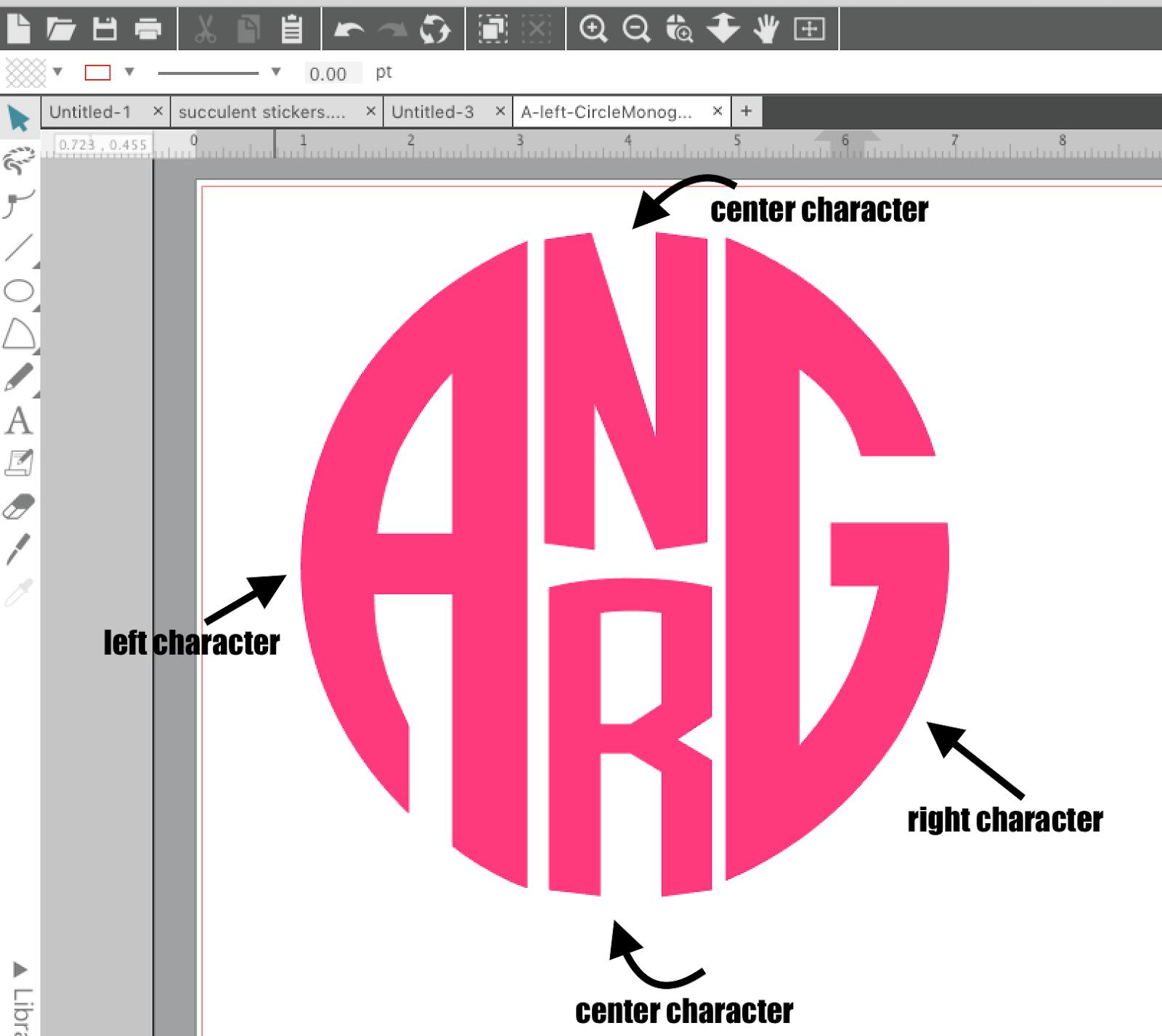 4 Letter Circle Monogram