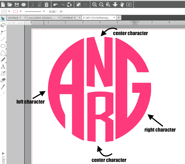 silhouette cameo monogram, Monogram designs, monogram design, free monogram designs, monogram designer