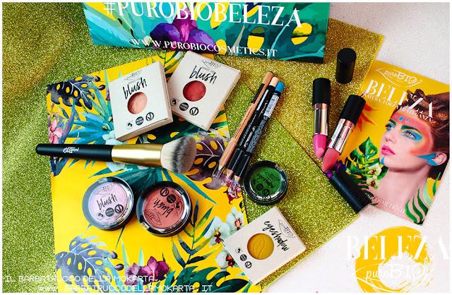 collezione purobio blush listick eyeshadow eyepencil