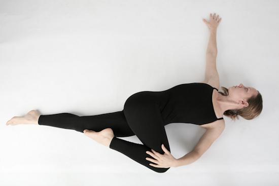 Supta Matsyendrasana (Supine-Spinal Twist Pose)