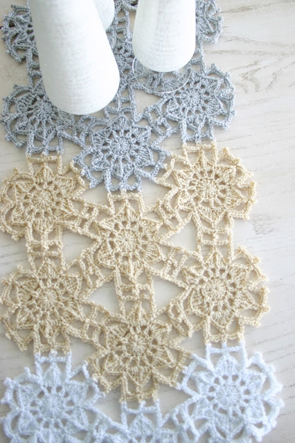 Fallen Snow Runner Crochet Pattern by Susan Carlson of Felted Button