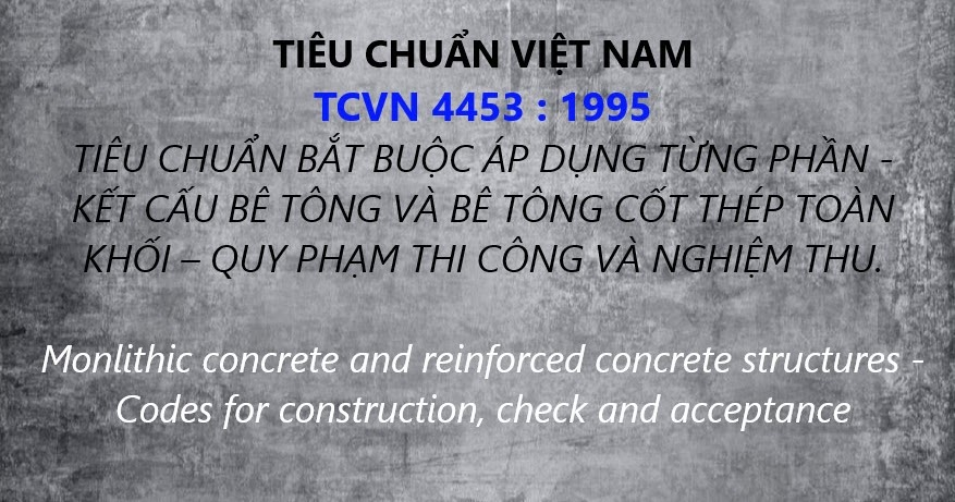 Tiêu chuẩn bê tông cốt thép - TCVN 4453:1995
