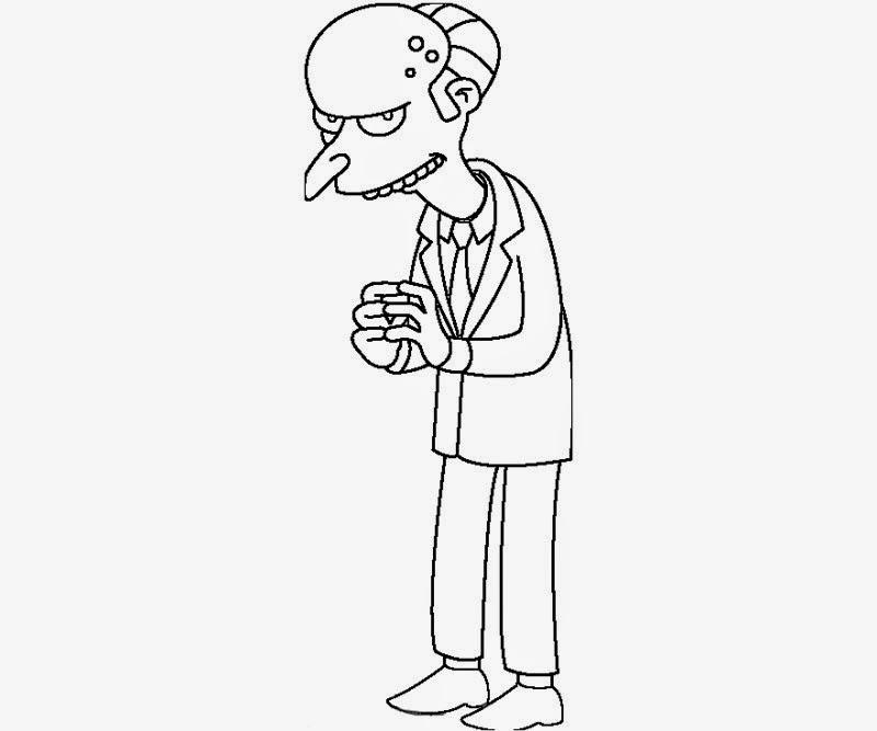 Desenhos Para Colorir E Imprimir: Desenhos Dos Simpsons