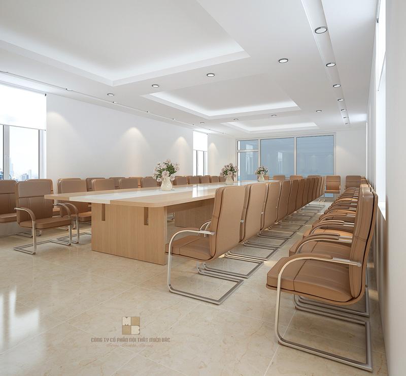 Thiết kế phòng họp sang trọng cho văn phòng tại Hà Nội