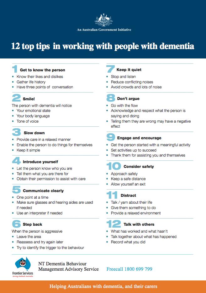 Alzheimer S Amp Dementia Weekly 12 Tips For Dementia