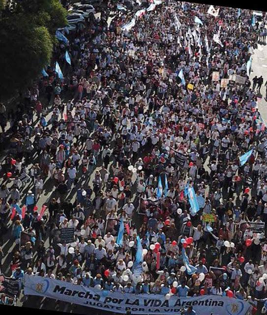Abertura da Marcha pela vida em Buenos Aires.