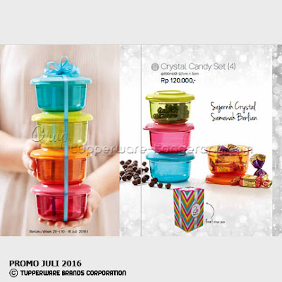 Crystal Candy Set ~ Katalog Tupperware Promo Juli 2016
