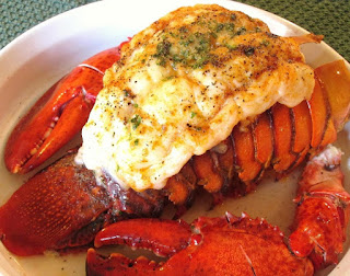 broiled lobster with grlic
