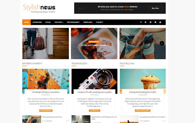 Best SEO news, magazine Blogger Templates-TechEarnBlog
