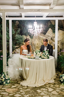 centrotavola matrimonio moderno tiffany